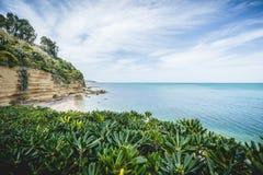 Playa magnífica en Sicilia Foto de archivo libre de regalías