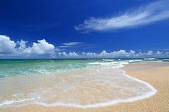 Playa magnífica en verano Imagen de archivo libre de regalías