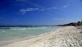 Playa Majorca del EL Arenal Imagen de archivo libre de regalías
