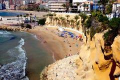 Playa Mal Pas plaża, Benidorm, Hiszpania Obraz Stock