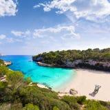Playa Mallorca de Majorca Cala Llombards Santanyi fotografía de archivo