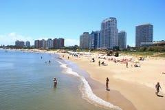 Playa Mansa Punta del Este Uruguay stockfoto