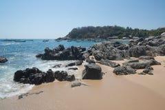 Playa Manzanillo, Oaxaca, Mexico stock afbeeldingen