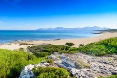 Playa maravillosa en Mallorca Imágenes de archivo libres de regalías