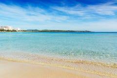 Playa maravillosa en Mallorca Fotos de archivo
