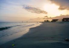 Beach Sunset in Margarita island, Venzuela royalty free stock images