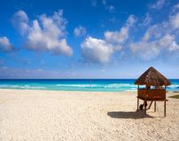 Playa Marlin in Cancun Beach in Mexico Stock Image