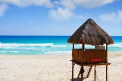 Playa Marlin in Cancun Beach in Mexico Royalty Free Stock Photo