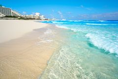 Playa Marlin in Cancun Beach in Mexico Royalty Free Stock Photos