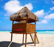 Playa Marlin in Cancun Beach in Mexico Royalty Free Stock Photography