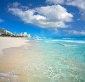Playa Marlin in Cancun Beach in Mexico Stock Photos