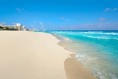 Playa Marlin i den Cancun stranden i Mexico Arkivfoto