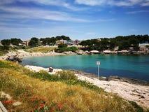 Playa Martigues Imágenes de archivo libres de regalías