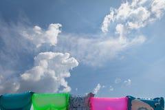 Playa Mattrasses Foto de archivo libre de regalías