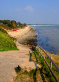 Playa media Studland Dorset Inglaterra Reino Unido situada entre Swanage y Poole y Bournemouth Imágenes de archivo libres de regalías