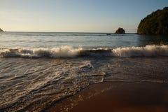 PLAYA MEDINA, karibisk strand arkivfoton