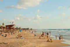 Playa mediterránea de Haifa, Israel imágenes de archivo libres de regalías