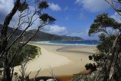 Playa meridional del océano Imagenes de archivo