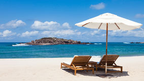 Playa mexicana hermosa Fotos de archivo