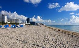 Playa Miami Imágenes de archivo libres de regalías