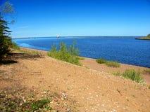 Playa Michigan del parque de estado de McLain Imágenes de archivo libres de regalías
