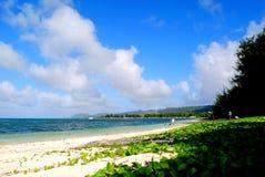 Playa micro, Saipán, Mariana Islands septentrional imagenes de archivo