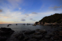 Playa misteriosa Foto de archivo
