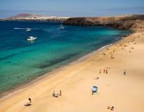 Playa Mujeres, Lanazarote, islas Canarias Imagen de archivo