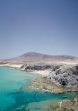 Playa mujeres from playa papagayo. Playa mujere view from playa papagayo Stock Photography
