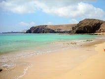 The Playa Mujeres. Shot of a Playa Mujeres in Playa Blanca, Lanzarote canary spain Stock Photos