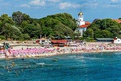 Playa municipal en Sozopol Fotografía de archivo