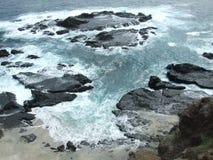 Playa natural en el Pacífico Imagenes de archivo