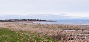 Playa natural en Nuevo Brunswick Fotografía de archivo libre de regalías