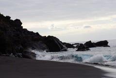 Playa negra Fotografía de archivo libre de regalías
