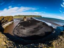 Playa negra Imagen de archivo libre de regalías