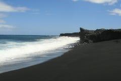 Playa negra Imágenes de archivo libres de regalías
