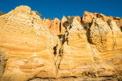 Playa negra de la roca, Melbourne, Australia Imagen de archivo libre de regalías
