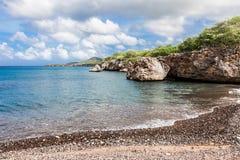 Playa negra de las arenas Imagen de archivo libre de regalías