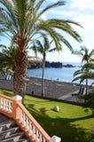 Playa negra tropical Imagen de archivo libre de regalías