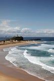 Playa Newcastle Australia de Nobbys Fotografía de archivo