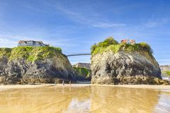 Playa Newquay Cornualles Reino Unido de Towan fotografía de archivo