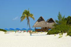 Playa Norte在Isla Mujeres,墨西哥 免版税库存照片