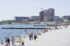 Playa Novorossiysk Imagen de archivo libre de regalías