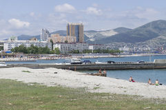 Playa Novorossiysk Foto de archivo