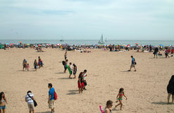 Playa Nueva York de la isla de conejo Imagen de archivo libre de regalías