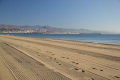 Playa occidental de Málaga fotografía de archivo