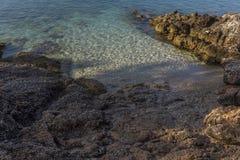 Playa ocultada fotografía de archivo libre de regalías