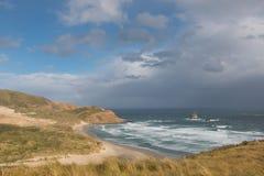 Playa ocultada antes de la tormenta Imagen de archivo libre de regalías