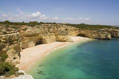 Playa ocultada del paraíso Fotos de archivo libres de regalías