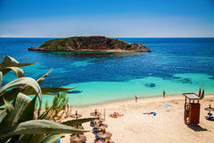 Playa-Oratoriumstrand in Mallorca Lizenzfreies Stockfoto